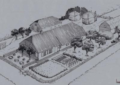 Tekeningen voor boek boerenerven